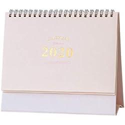 STOBOK Calendrier de bureau 2020 calendrier mensuel flip calendrier annuel 2020 calendrier de bureau debout chevalet calendrier/taille l-rose
