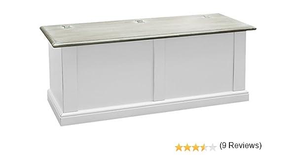 Pieffe Mobili Bolognese Cassapanca Legno 120x35x45 cm Bianco