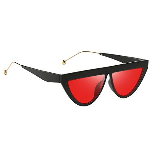 Unbekannt Retro Sonnenbrille UV400 Polka Dot Frame Brille Gläser Party Kostüm Requisiten - Schwarzer Rahmen Rote Linse