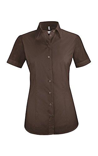 Greiff Damen-Bluse BASIC, Regular Fit, Stretch, easy-care, 6516, braun, Größe 42