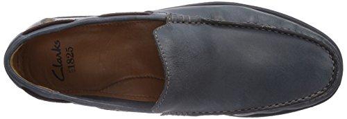 Clarks  Kelan Lane, chaussures bateau homme Bleu - Blau (Navy Leather)