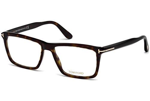 Preisvergleich Produktbild Tom Ford - FT 5407, Rechteckig, Acetat, Herrenbrillen, DARK HAVANA(052), 56/16/145