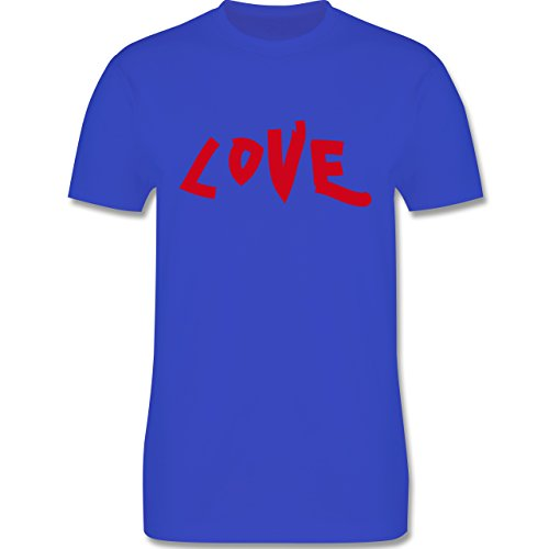 Romantisch - Love - Herren Premium T-Shirt Royalblau