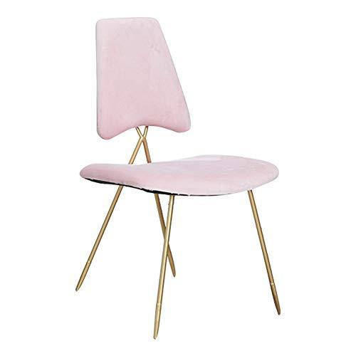 Sedia da pranzo/poltroncina / seggiolino da trucco/panca imbottita, arte in ferro/tessuto in velluto/imbottito, per spogliatoio/soggiorno / camera da letto/caffè, rosa