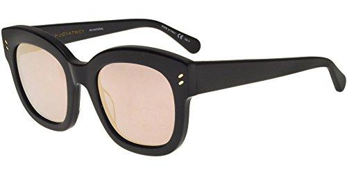 Stella mccartney sc0026s 005, occhiali da sole unisex-adulto, nero (005-black/gold), 51