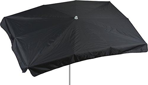 beo Sonnenschirme wasserabweisender rechteckig, 130 x 200 cm, anthrazit / schwarz