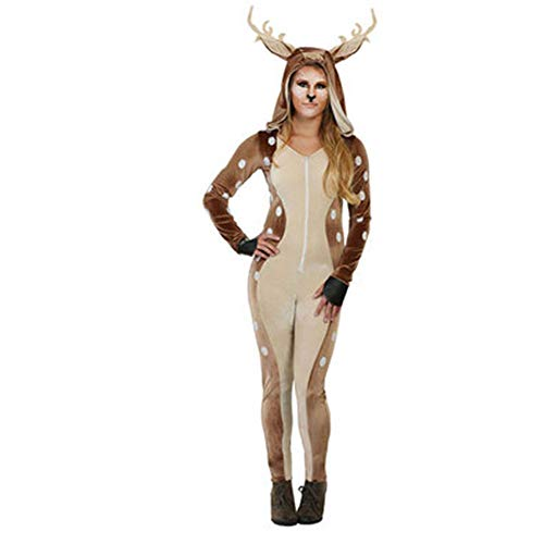 60's 70's Up Kostüm Dress - CLOUD Weihnachtskostüm Halloween Stage Performance Dress Up Kostüm/Sika Rotwild-Ren-Kostüm Adult S