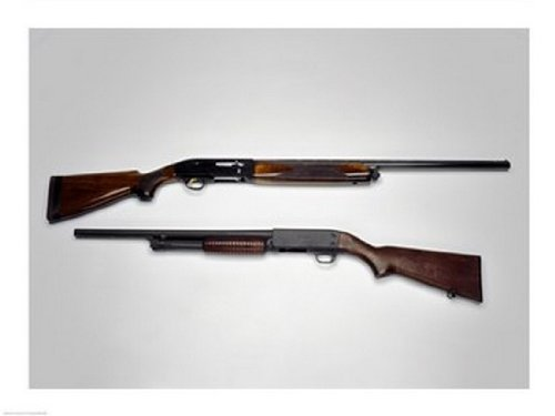 Close-up von einer Beretta 20-Gauge und einer Ithca 12- Schrotflinte Poster Drucken (60,96 x 45,72 cm) -