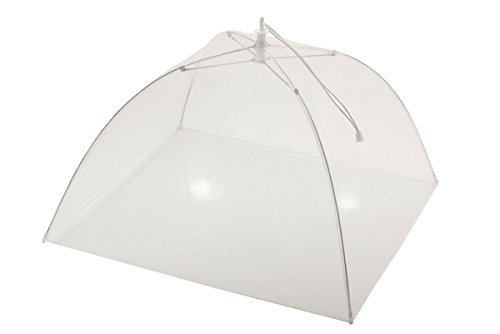 CHEVALIER DIFFUSION - Cloche à fromage tissu parapluie 34 cm blanche