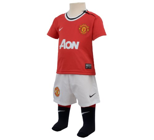 Manchester United Nike red white home baby football full kit...