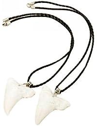 Diente del ganado en forma de collares de la manera de hueso de tiburón (par)