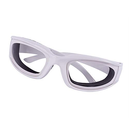 AOTUOTECH 1 Stück Anti-würzige Schneid-Zwiebel-Brille Anti-Splash Schutzbrille Scheiben Augenschutz, Polykarbonat, weiß, 14.2 * 4.2 * 12.2cm -