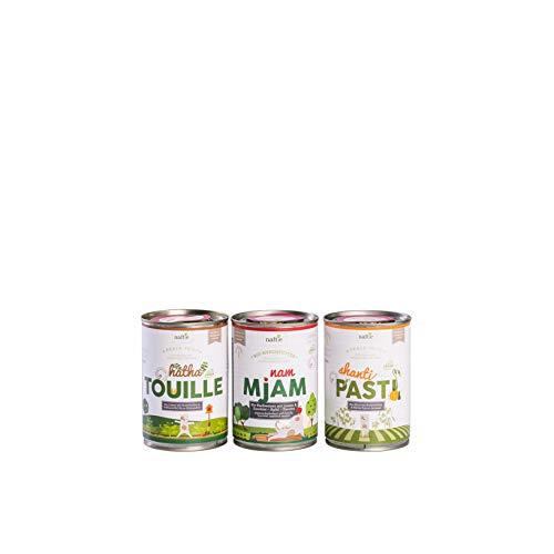 naftie veganes Bio Hundefutter Schnupperbox Peace Food 9 x 150g Beutel Ergänzungs-Nassfutter Menüs aus rein pflanzlichen Zutaten Probierpaket vegan Vegetarisch (9 x 150g)