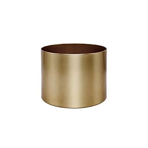 libelyef Metall-Blumentopf Vintage oval in Gold und Braun 10 10 cm/25 15 cm Blumen Übertopf Retro-Mode galvanisiertes Metall Geeignet für Balkonzimmer Innenhof Wohnzimmermöbel Dekoration