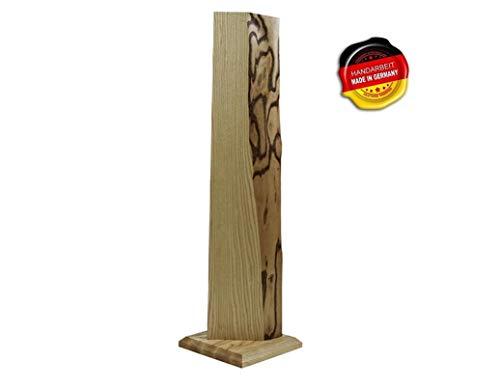 Premium Stehlampe *Farsund* Holz LED Stehlampe Holz LED Stehleuchte Dimmbar'Handarbeit Made in Germany' jede Lampe ein UNIKAT massiv Esche (Warmweiß)