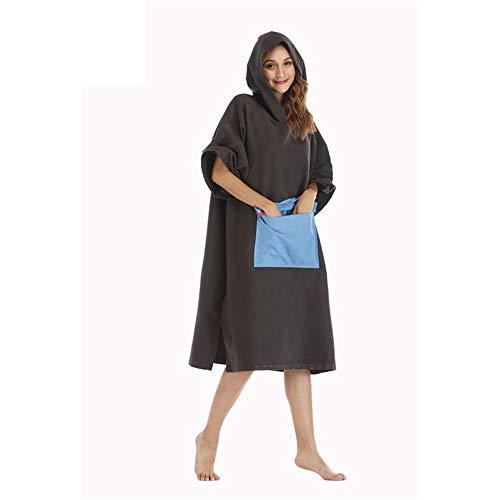 Feetbilbli Damen Handtuch 110 x 75 cm Strandbademäntel Fashion Bademäntel Kälteschutz Isolation Widerstand zu verwenden Elastizität Weiches Material Qualität Zusicherung Elite Produkt Caramel Black