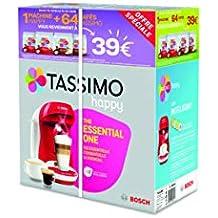 Bosch Tassimo Happy tas1006 C cafetera bebidas calientes, Rojo/Blanco