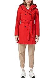 s.Oliver RED Label Damen Trenchcoat mit Kapuze red 44