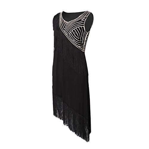 Hellery Frauen Fringe Latin Dance Kleid Trikot Rock Dancewear Kostüm Short Legging - Schwarz, - Fringe Kleid Dance Kostüm
