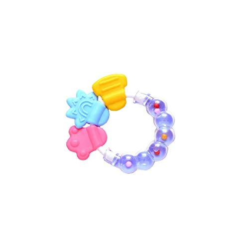 Durable Babys Rattle Silikon Rasseln netter Baby-Ring geformte Beißring Hand Entwicklung Educational Kinder Spielzeug Lila