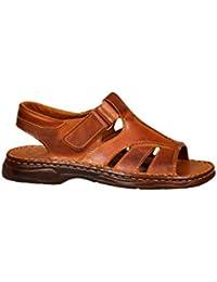Herren Bequeme Sandalen Schuhe Mit Der Orthopadischen Einlage Aus Echtem Buffelleder Hausschuhe Modell 835