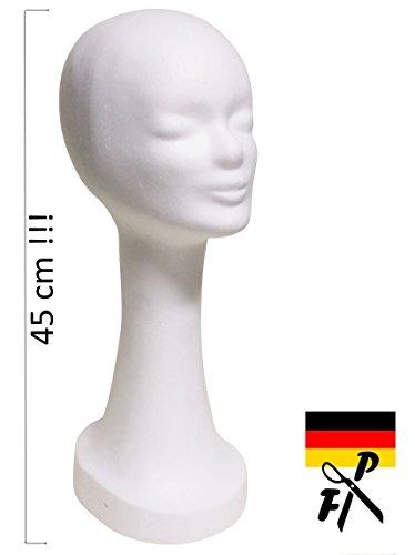 FP - Styroporkopf extra hoch - Farbe nach Wahl - TOP Marken-Qualität aus deutscher Herstellung (weiss)