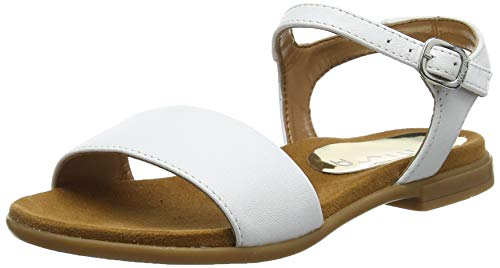 Unisa Lirita_NT_Can, Sandali Punta Aperta Bambina, Bianco White, 36 EU