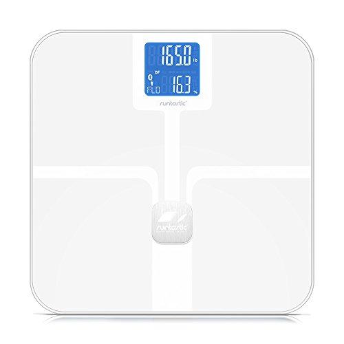 Runtastic LIBRA - Báscula de baño (LCD, Color blanco, 2.5 kg)