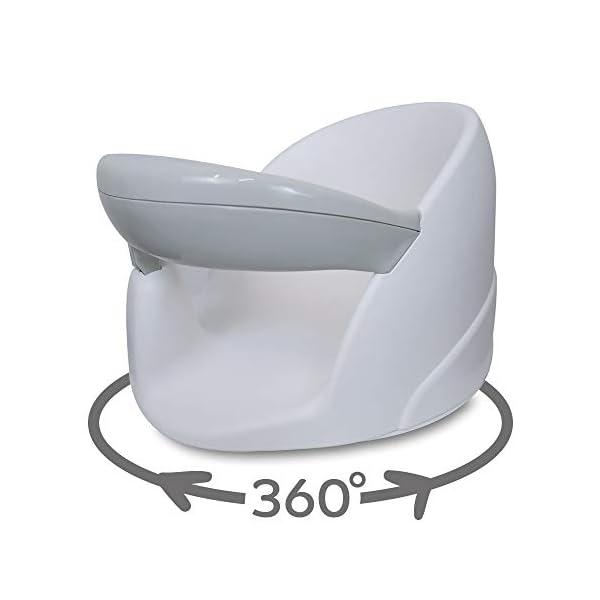 BabyDam Baby Orbital Swivel Bath Seat - White/Grey 2