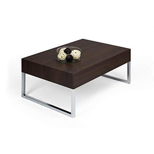 Mobili Fiver Evo XL Couchtisch, Holz, Eiche dunkelbraun, 90x 60x 40cm
