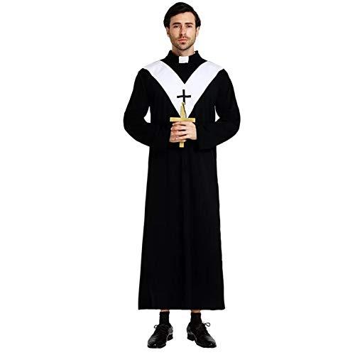 Heiligen Von Kostüm Verschiedenen - thematys Heiliger Priester Pfarrer Kostüm-Set für Herren - perfekt für Fasching, Karneval & Halloween - Einheitsgröße 160-180cm (Style 1)
