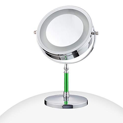 Miroir de Maquillage Miroir de Poche grossissant LED européenne grossissement 3 Fois