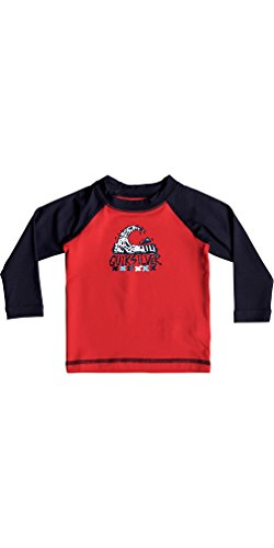 Quiksilver Infant Blase Traum Langarm Schnell Dry Leicht Rash Vest Top Quik Red - Klassisch, komfortabel Regular fit -
