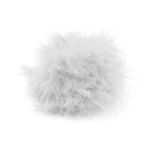 Plume Blanche - VANKER 1pc Blanche 2M Artificiel Bande de