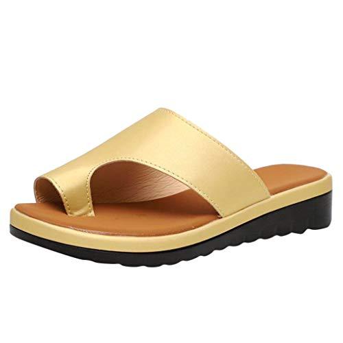 Quaan Damenmode Wohnungen Fluoreszierende Farbe Open Toe Strand Schuh römische Hausschuhe Sandale