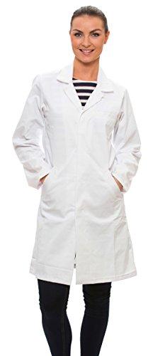 Dr. James Weißer Damen Laborkittel 100% Baumwolle  EU 34  XS Weiß -