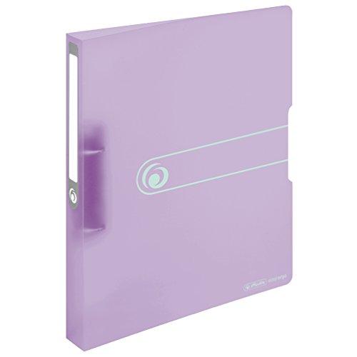 Herlitz 11409034 Ringbuch, A4, 2 Ringe, 25mm, PP-Folie flieder, transparent