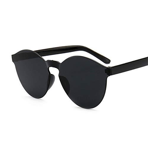 Sonnenbrillen New Fashion Rimless Vintage Round Mirror Sunglasses Women Luxury Brand Original Sun Glasses Female Oculos Feminino Black