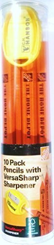 Home Depot Kennzeichnung Bleistift mit versasharp Spitzer, 10Pack-100% Holz FSC c006583-Made in USA
