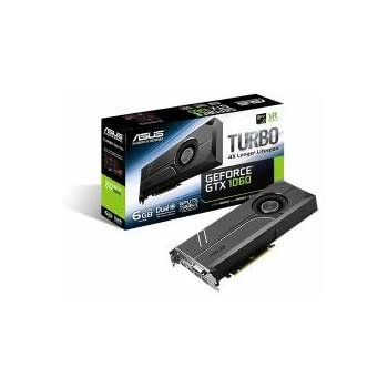 ASUS TURBO-GTX1060-6G GeForce GTX 1060 6GB GDDR5 - Tarjeta gráfica (GeForce GTX 1060, 6 GB, GDDR5, 192 bit, 7680 x 4320 Pixeles, PCI Express 3.0)