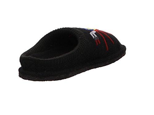 Haflinger Flair Radl, Pantofole Donna Nero
