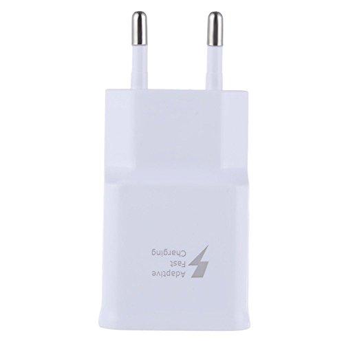 USB Ladegerät,5V/2A USB Netzteil, AC 3 Port Stecker,EU Stecker Wandladegerät für Smartphones, Samsung Galaxy, HTC, Huawei, LG G5, Nexus, Nokia,iPhone (Weiß) -