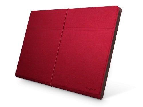 Sony SGPCV4/R.AE Polyesterschutzhülle für XPERIA Tablet S rot/braun