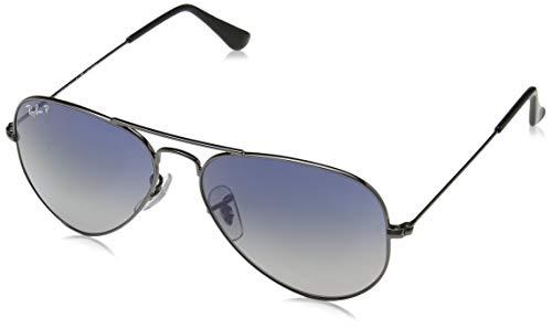 Ray Ban Unisex Sonnenbrille Aviator, Gr. Large (Herstellergröße: 58), Grau (gunmetal 004/78)