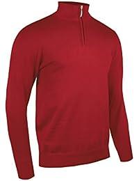 Glenmuir Herren Zip Neck Golf Pullover aus leichter Baumwolle