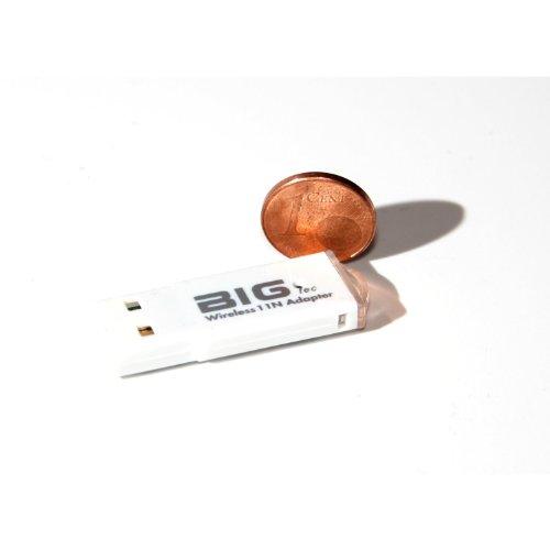 Wpa-wep-wireless (BIGtec 300Mbit USB WLAN Stick Dongel WLAN Adapter 300 MBIT N Stick N Adapter mini WLAN Stick micro WLAn Stick , WEP , WPA , WPA2 Stick mit WPS , mit LED , Realtek Chipsatz , WPS Knopf , 300 MBIT Wireless LAN Stick Dongel 1T2R , Wireless micro Stick)