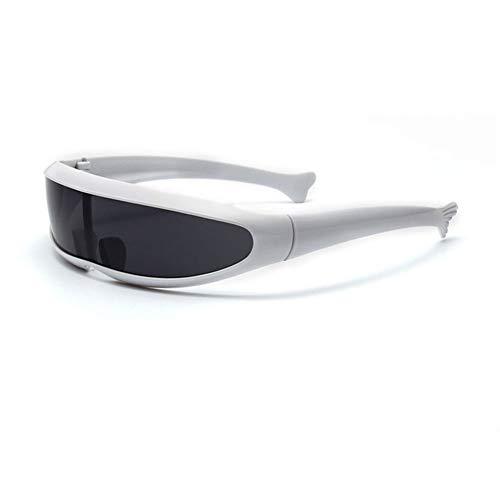 QTQHOME Polarisierte Sonnenbrille Für Männer Farfarer,uv-schutz Trendige Persönlichkeit Geeignet Für Running Cycling-weißer Rahmen Schwarz Grau Stück 14.3x11.5cm(6x5inch)