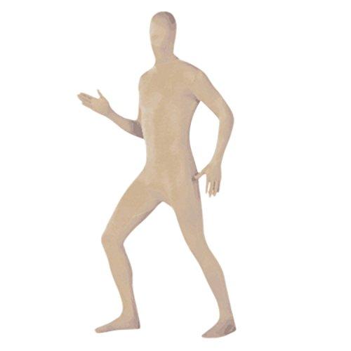 Petalum Erwachsene Ganzkörperanzug Zentai Bodysuit Halloween Second SKin Kostüm Lange Ärmel Catsuit - Nylon Herren Kostüm