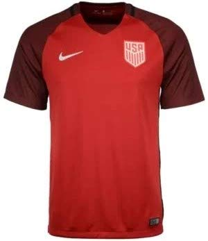 Nike Men's Dry United States Third Stadium Soccer Jersey (Small) Red