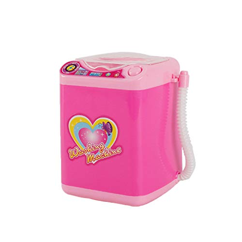 Make-up Pinsel Reinigungsgerät reinigt automatisch die Waschmaschine Mini-Spielzeug (Liebe Aufkleber Version) (Rosa, B) -